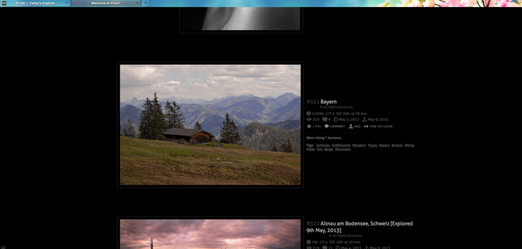 Snapshot Flickr Explore