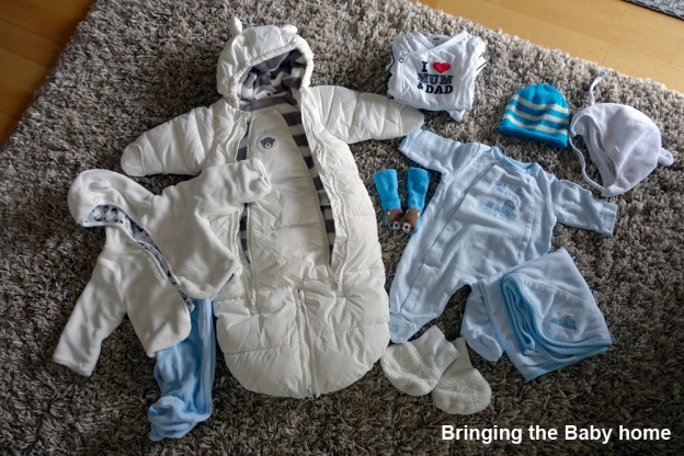 Clothes for bringing our Baby home