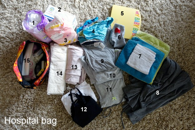 Hospital bag for after the birth